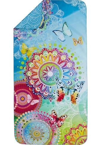 hip Sporthandtuch »Mystic«, (1 St.), mit Mandalas und Schmetterlingen kaufen