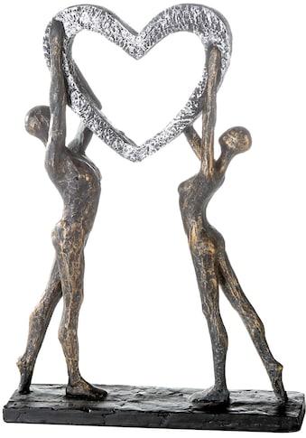 Casablanca by Gilde Dekofigur »Skulptur Victory«, Dekoobjekt, Höhe 37 cm, mit Herz,... kaufen