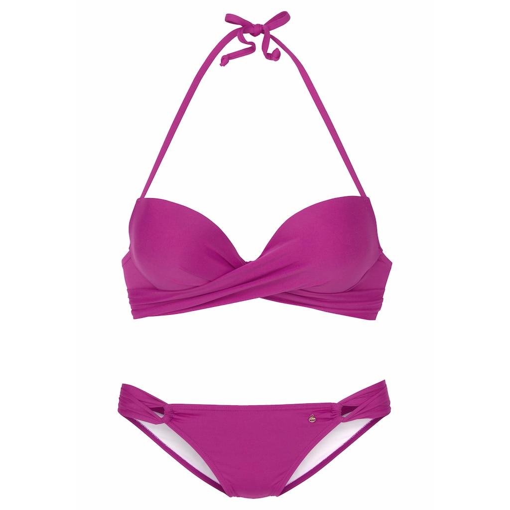 s.Oliver Push-Up-Bikini, mit zusätzlichen Bindebändern