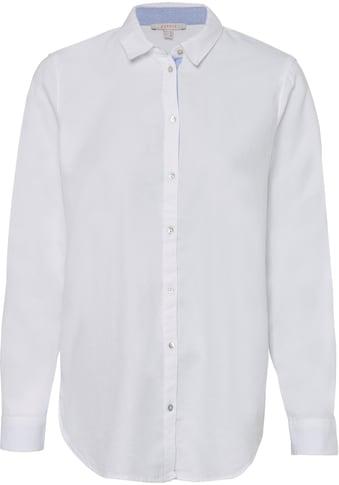 Esprit Hemdbluse, mit Perlmuttknöpfen kaufen
