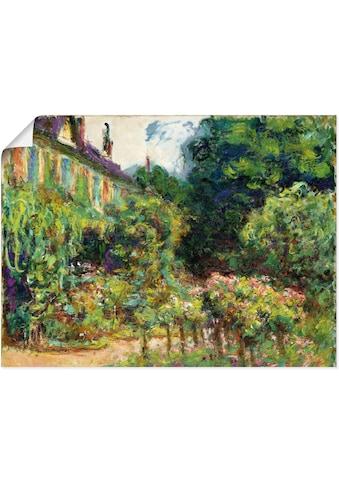 Artland Wandbild »Das Haus des Künstlers in Giverny. 1913«, Garten, (1 St.), in vielen... kaufen