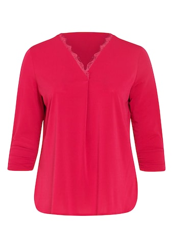 Paprika Spitzenshirt »mit breitem Rundhals«, casual Naturfarbe aus Viskose kaufen