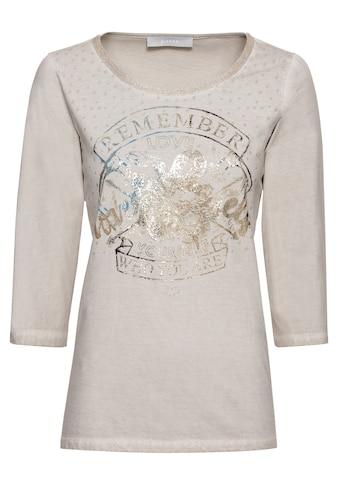 bianca Print-Shirt »DINI«, mit Statement-Print und Wash-Out Effekt kaufen