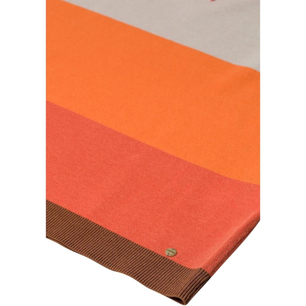 Olsen Stehkragenpullover, mit bunten Blockstreifen