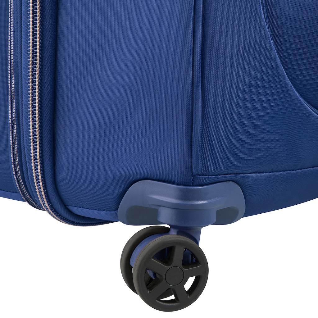 Delsey Weichgepäck-Trolley »Montrouge, 69 cm, blue«, 4 Rollen