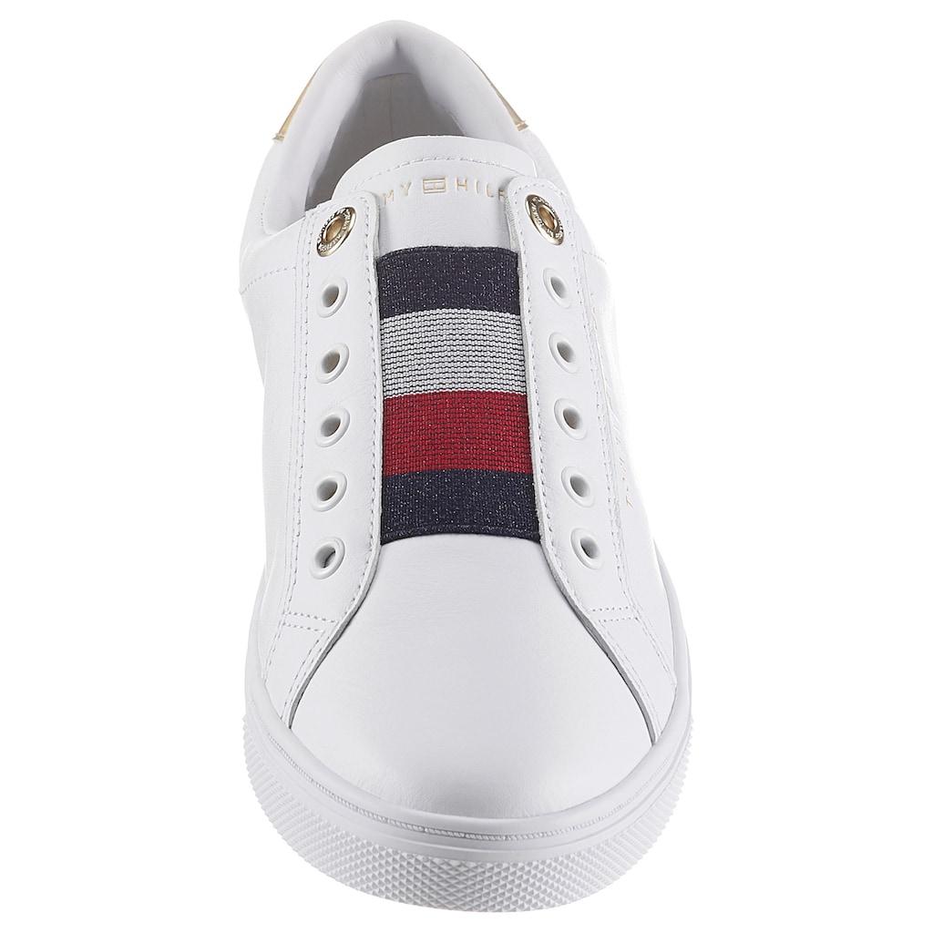 TOMMY HILFIGER Slip-On Sneaker »TH ELASTIC SLIP ON SNEAKER«, mit gestreiftem Gummizug