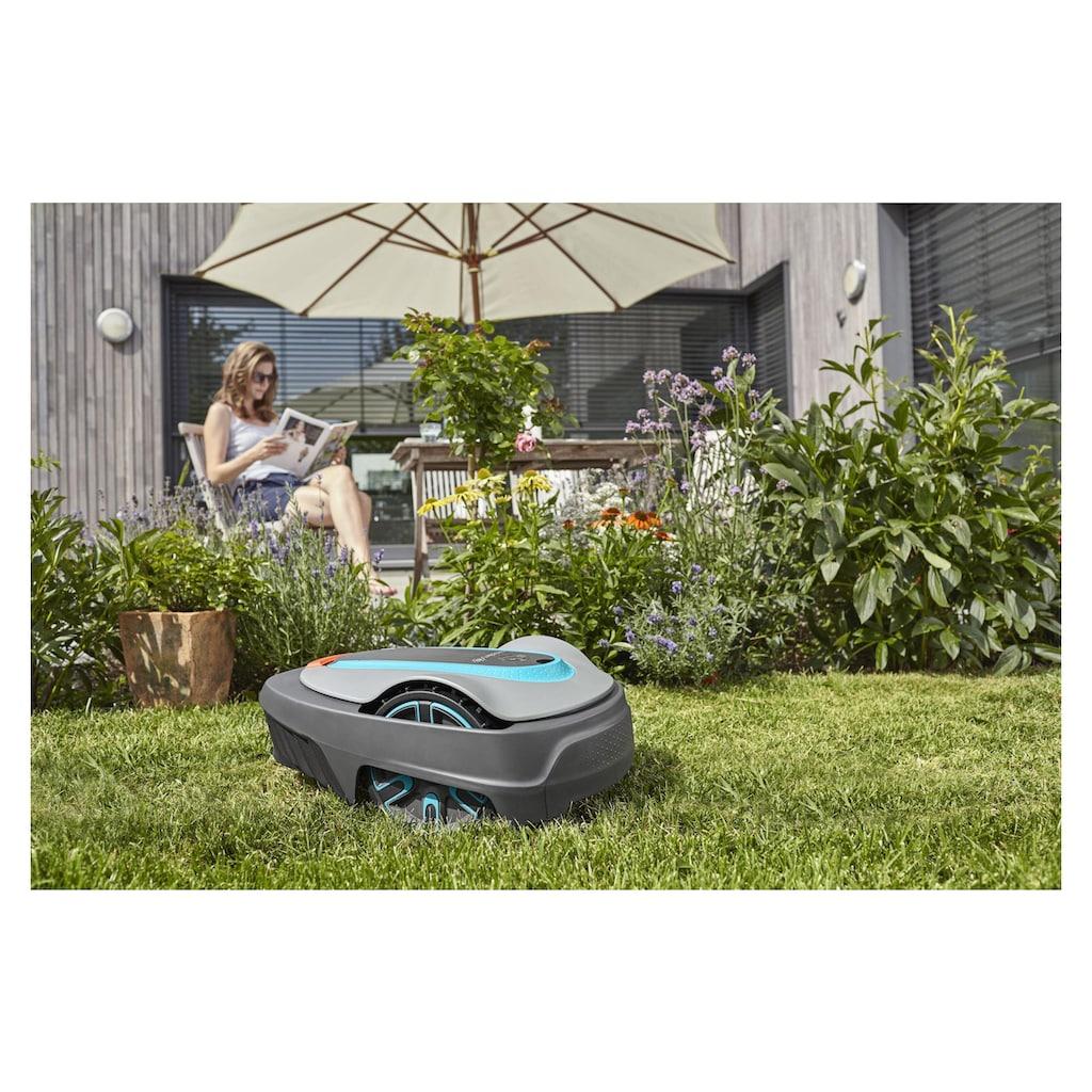 GARDENA Rasenmähroboter »smart System Start Set 500 m²«, (Set, Lieferumfang: Ladestation / Smart Gateway / Smart Sensor / Smart Water Control / Begrenzungskabel 150 m / Haken 200 Stk.)