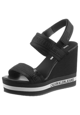 Calvin Klein High-Heel-Sandalette, mit mehrfarbiger Laufsohle kaufen