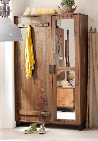 Home affaire Garderobenschrank »Santos«, mit besonderen Türfronten und 1 Spiegel,... kaufen