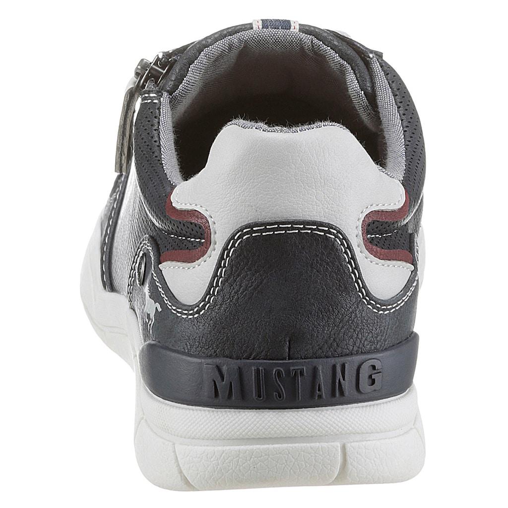 Mustang Shoes Schnürschuh, mit seitlichem Reissverschluss