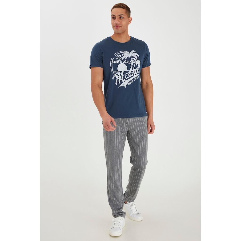 Blend Rundhalsshirt »Perry«, Kurzarmshirt mit Frontprint