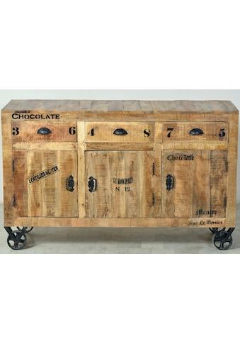 SIT Sideboard »Rustic«, im Factory Design, Breite 140 cm, Shabby Chic, Vintage kaufen