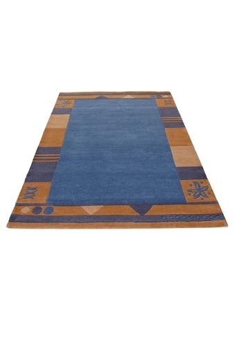 Theko Exklusiv Wollteppich »Estepona«, rechteckig, 13 mm Höhe, reine Schurwolle, handgetuftet, mit Bordüre, Wohnzimmer kaufen