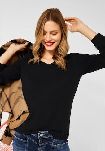 STREET ONE V-Ausschnitt-Pullover, Basic kaufen
