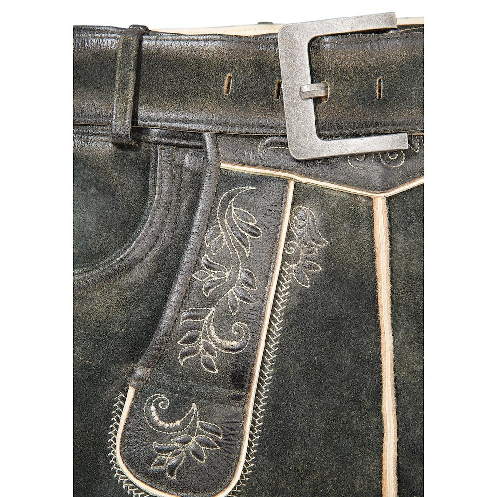 Country Line Trachtenlederhose, (2 tlg.), mit traditionelle Stickelemente