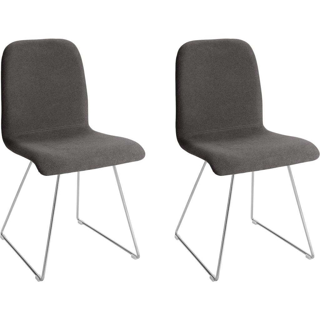Places of Style Esszimmerstuhl »Ciao«, in zwei verschiedenen Bezugsqualitäten, 4 unterschiedliche Farbvarianten, Sitzhöhe 46 cm