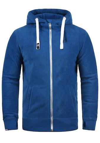Solid Fleecejacke »Loki«, Sweatshirtjacke mit hochabschliessendem Kragen kaufen
