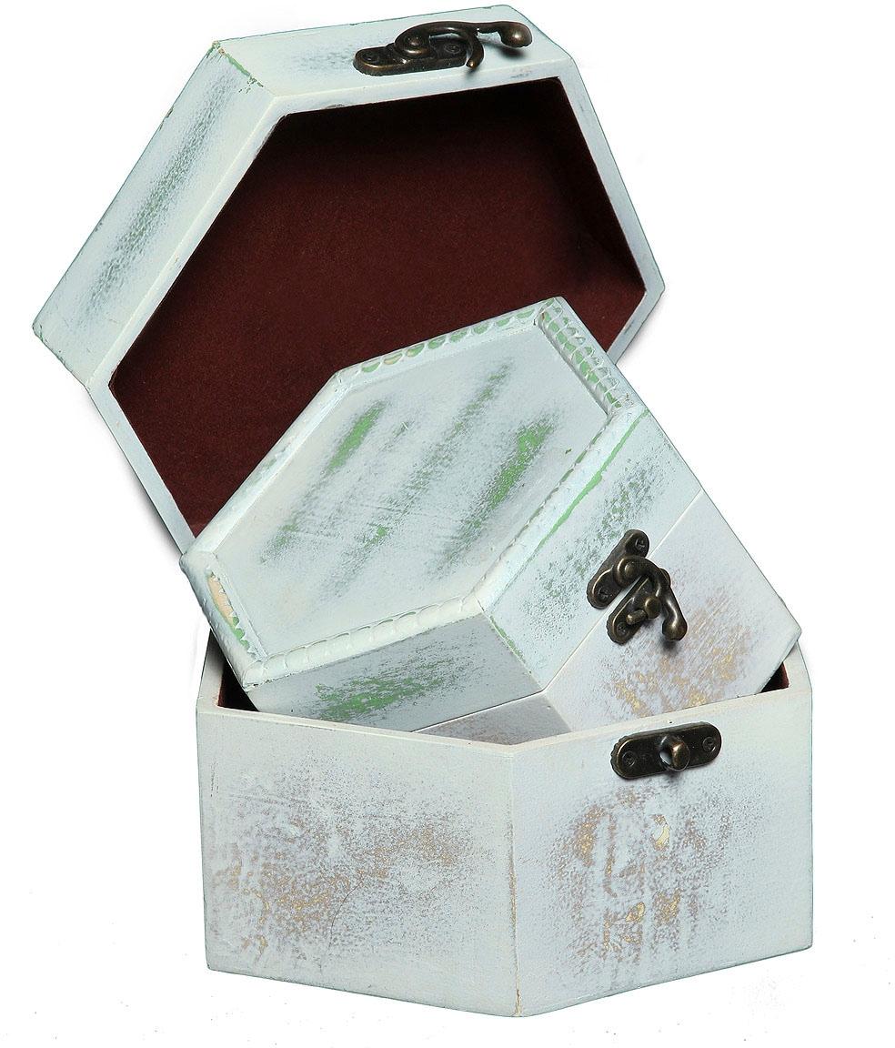 Image of Ambiente Haus Aufbewahrungsbox »Seifenholz Graues Holzkästchen-2er-Set a«, (1 St.)