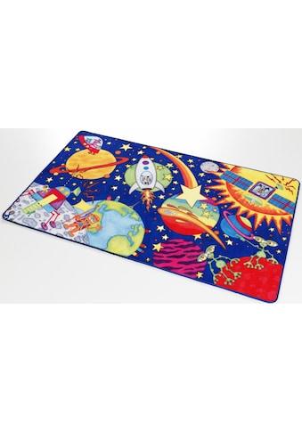Böing Carpet Kinderteppich »Weltall WA-1«, rechteckig, 2 mm Höhe, Druckteppich kaufen