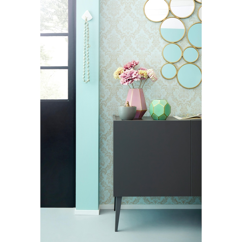 Places of Style Sideboard »Zela«, 3-türig, mit Füssen, Breite 184 cm
