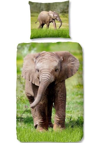 good morning Kinderbettwäsche »Elephant«, mit Elefant kaufen