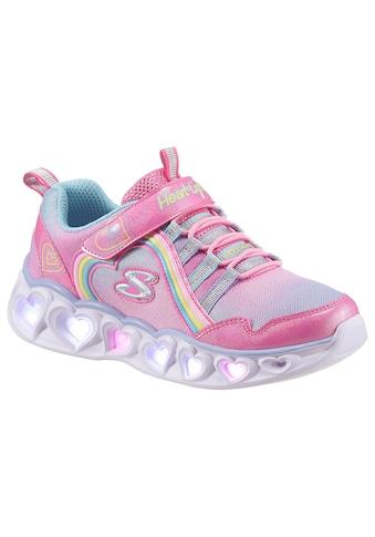 Skechers Kids Sneaker »HEART LIGHTS«, mit Klettverschluss und Gummizug kaufen