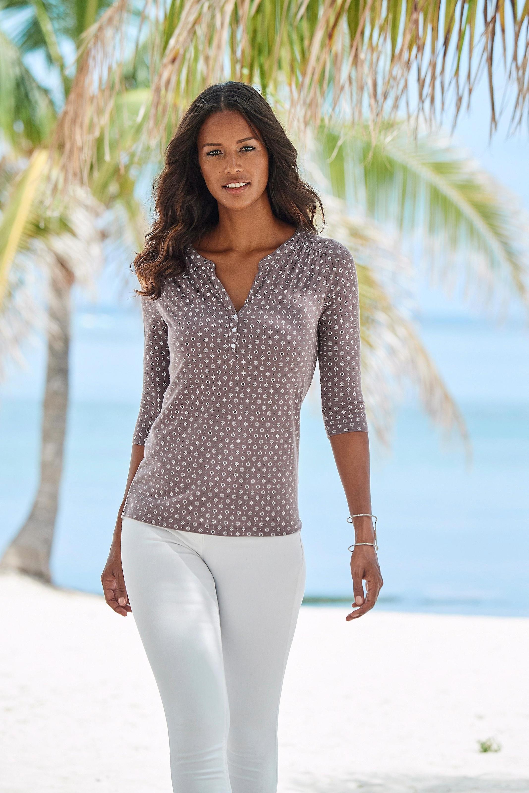 Image of LASCANA 3/4-Arm-Shirt