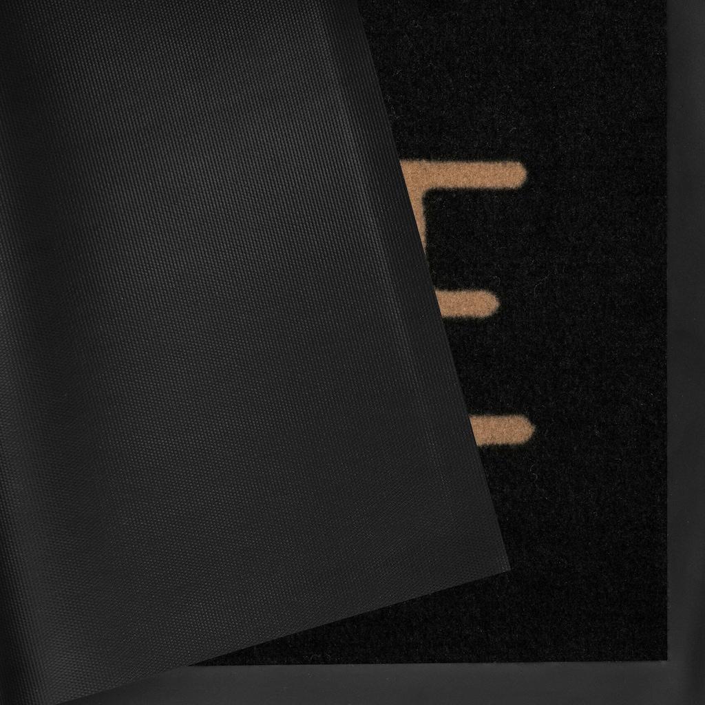 HANSE Home Fussmatte »Lovely Home«, rechteckig, 5 mm Höhe, Schmutzfangmatte, mit Spruch, In- und Outdoor geeignet, waschbar