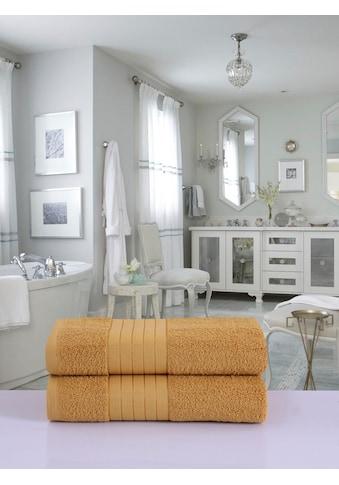 good morning Badetücher »Uni Good Morning«, (2 St.), mit schöner Bordüre kaufen