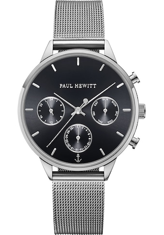 PAUL HEWITT Multifunktionsuhr »Everpulse Black Sunray Silberfarben Mesh, PH002813« kaufen