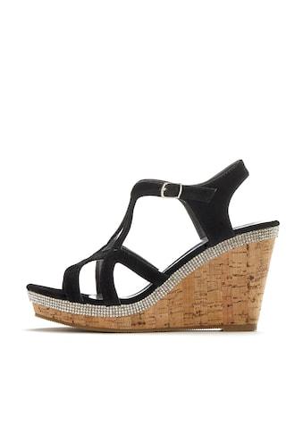 LASCANA High-Heel-Sandalette, mit Keilabsatz und Strasssteinen kaufen