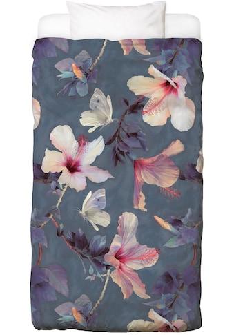 Juniqe Bettwäsche »Butterflies & Hibiscus Flowers«, In vielen weiteren Designs erhältlich kaufen