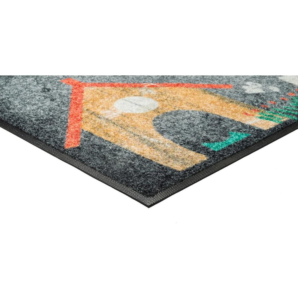wash+dry by Kleen-Tex Fussmatte »Benno«, rechteckig, 7 mm Höhe, Schmutzfangmatte