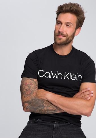 Calvin Klein T-Shirt »COTTON FRONT LOGO«, grosser Calvin Klein- Schriftzug kaufen