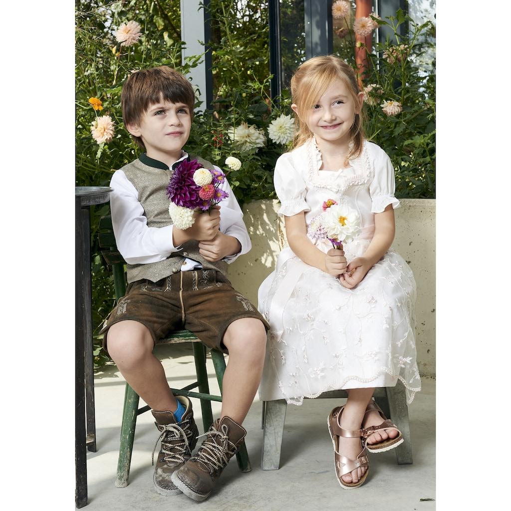 KRÜGER KIDS Dirndl »Francine Kids«, (3 tlg.), mit Bluse und bestickter Tüllschürze
