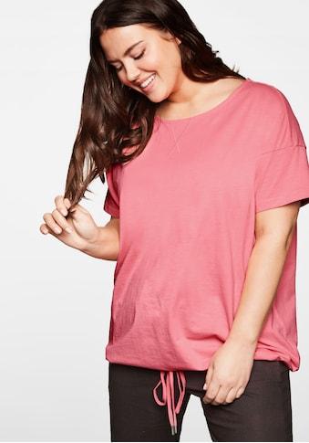 Sheego T-Shirt, mit Schnürung am Saum kaufen