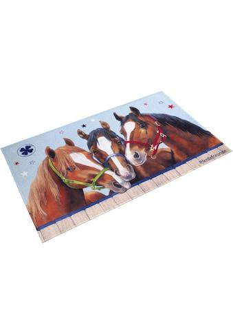 Pferdefreunde Kinderteppich »PF-512«, rechteckig, 6 mm Höhe, Motiv Pferde, Stoff... kaufen
