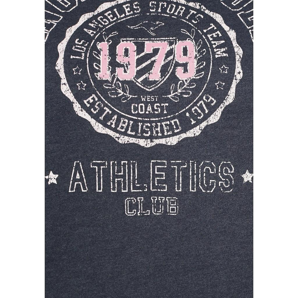 KangaROOS Sweatshirt, mit sportlichen Kontrasteinsätzen am Ärmel