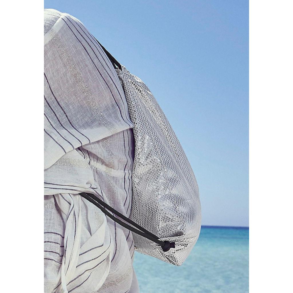 LASCANA Gymbag, Gym Bag aus glänzendem Material