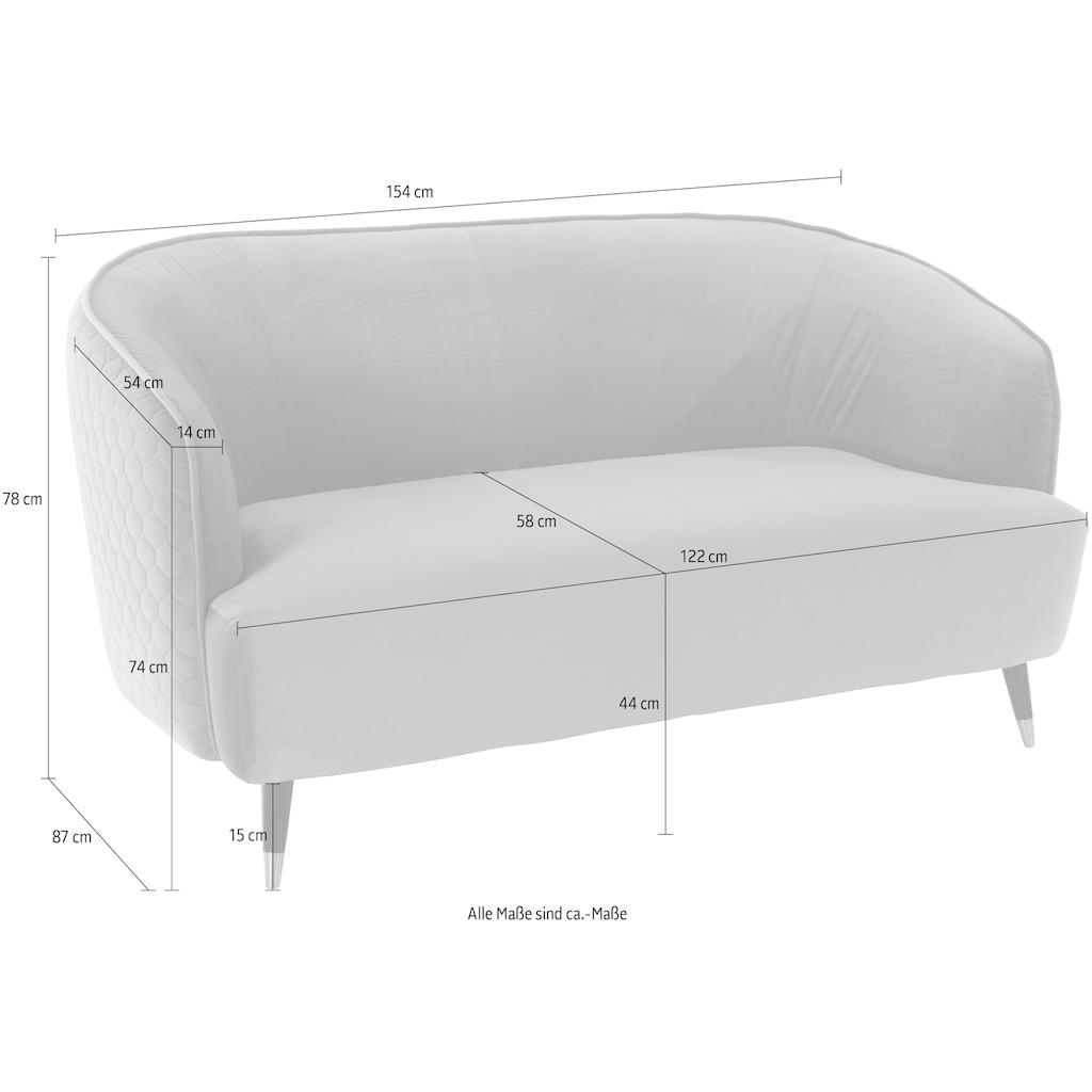 Guido Maria Kretschmer Home&Living 2-Sitzer »Oradea«, mit eleganter Steppung auf Rückseite der Rückenlehne