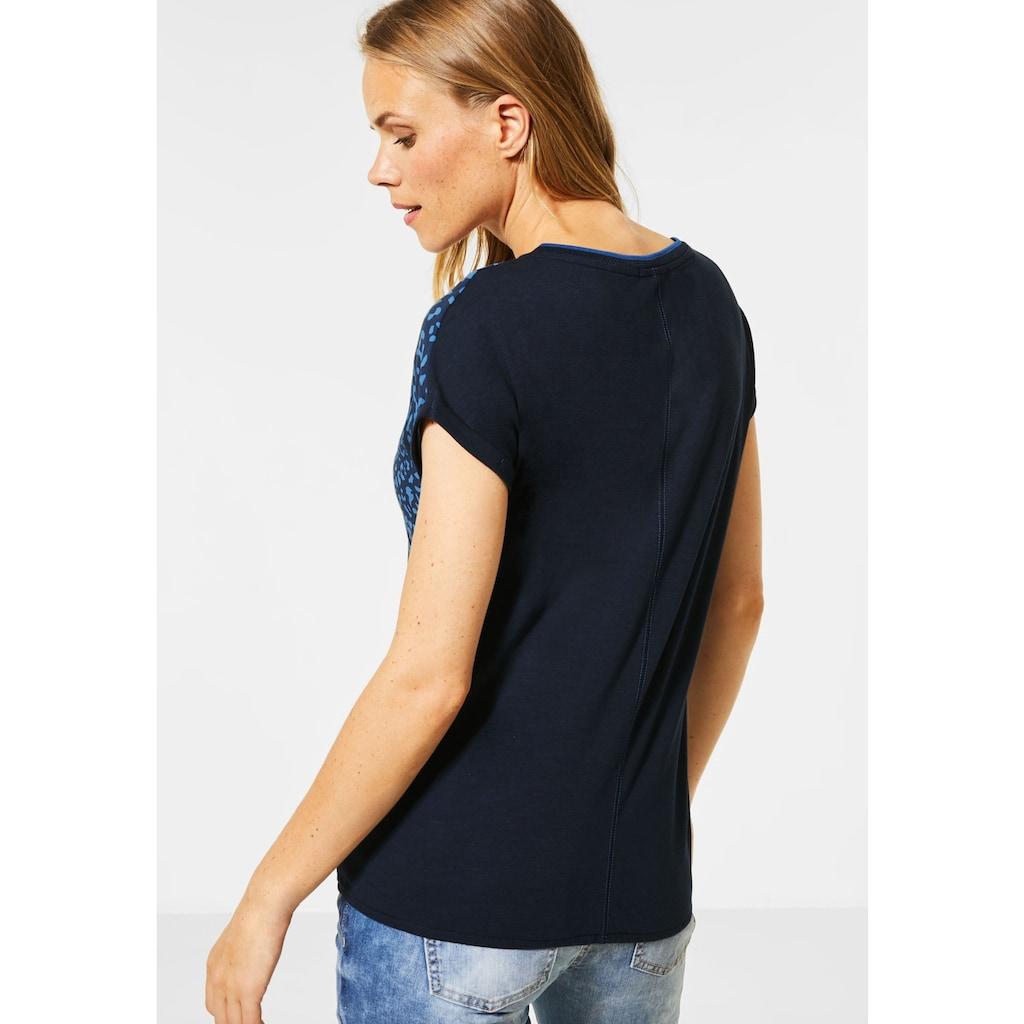 Cecil V-Shirt, mit Elastiksaum