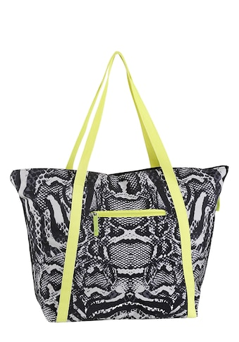 fabrizio® Strandtasche, in modischer Animal Optik mit viel Stauraum für Badeutensilien kaufen