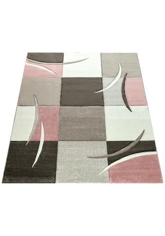 Paco Home Teppich »Lara 235«, rechteckig, 18 mm Höhe, karierter Kurzflor in schönen... kaufen