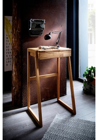 Home affaire Stehpult »Dura«, aus schönem massivem Wildeichenholz, Höhe 111 cm kaufen