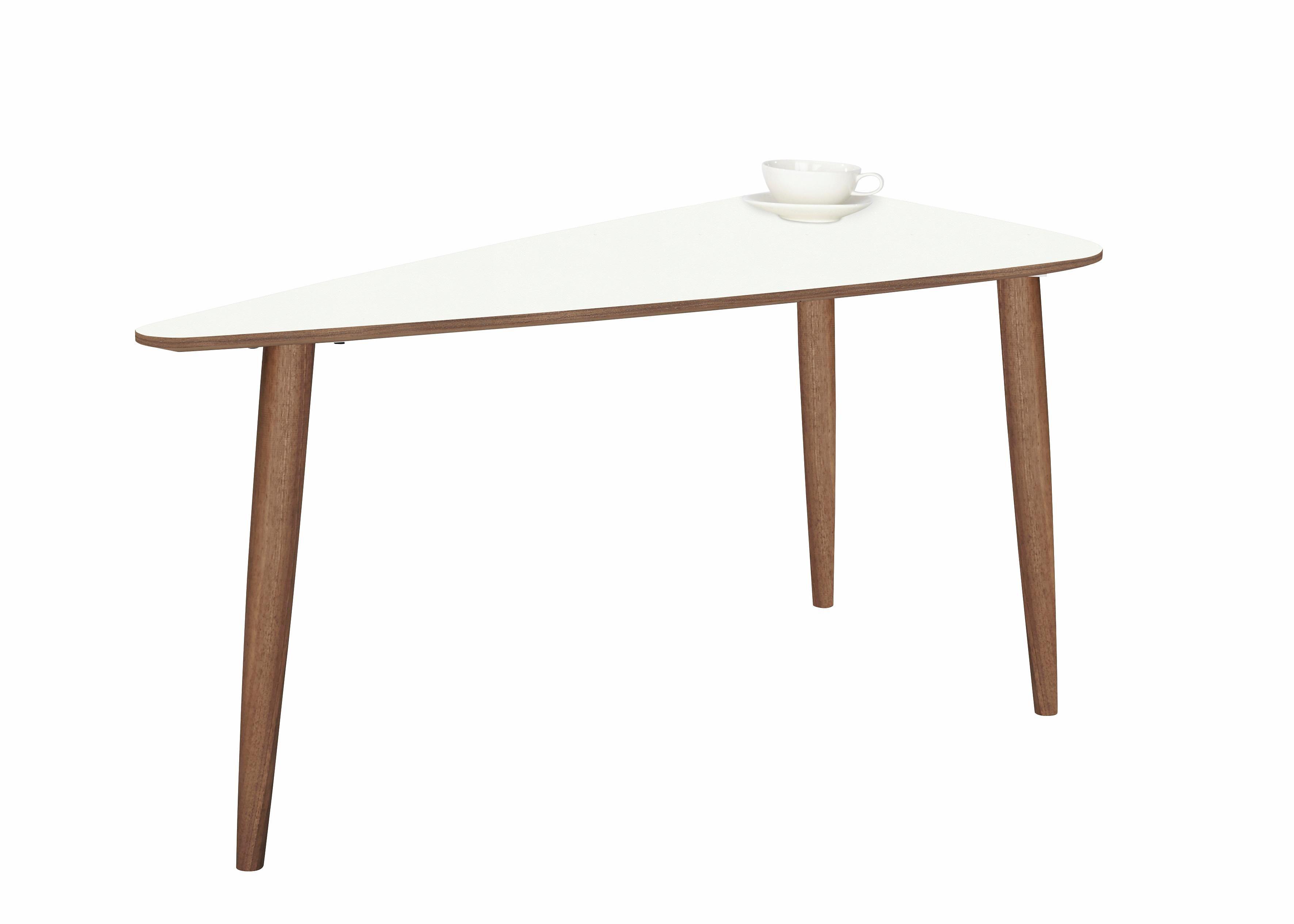 Image of andas Couchtisch »Jib« walnut massiv, mit segelförmiger Tischplatte in zwei Höhen