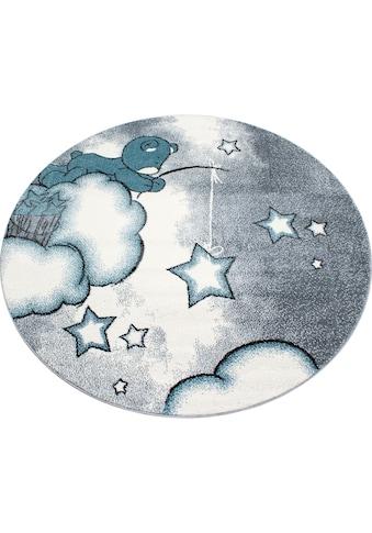 Ayyildiz Kinderteppich »Kids 580«, rund, 12 mm Höhe, Motiv Sterne, Kurzflor kaufen
