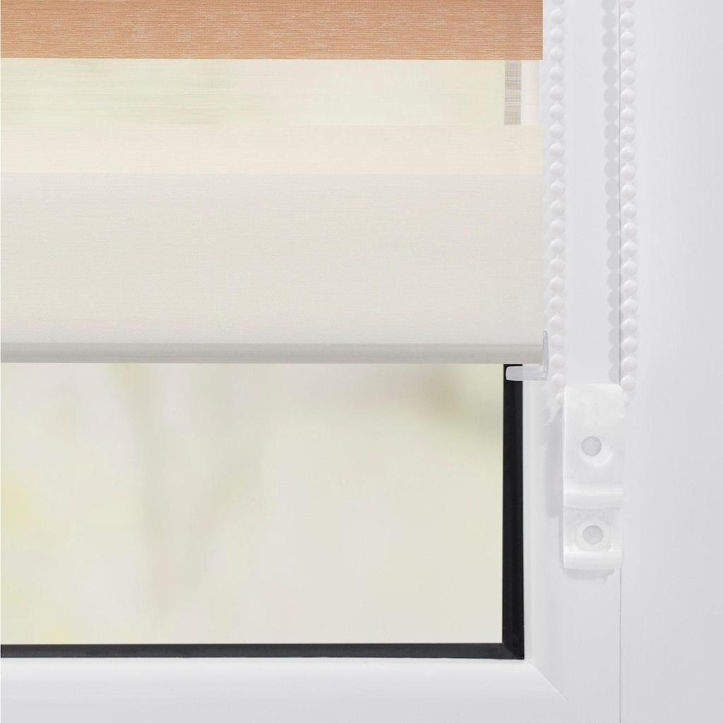 LICHTBLICK ORIGINAL Doppelrollo »Duo Rollo Klemmfix Bunt«, Lichtschutz, ohne Bohren, Seitenzug