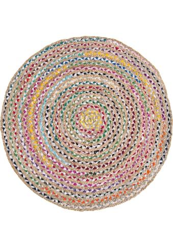 Barbara Becker Teppich »Ethno«, rund, 4 mm Höhe, Flachgewebe, handgeflochten, Ø ca. 80... kaufen