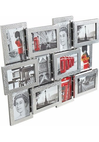 my home Galerierahmen, für 12 Bilder, Fotorahmen, aus Aluminium, silberfarben,... kaufen