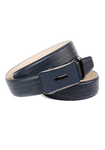 Anthoni Crown Ledergürtel, mit Karbon-Schliesse in dunkelblau kaufen